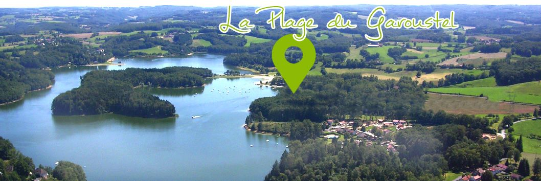 Plage Camping Le Garoustel Cantal Auvergne